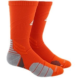 Adidas Menace Crew Athletic Socks, Orange, Large